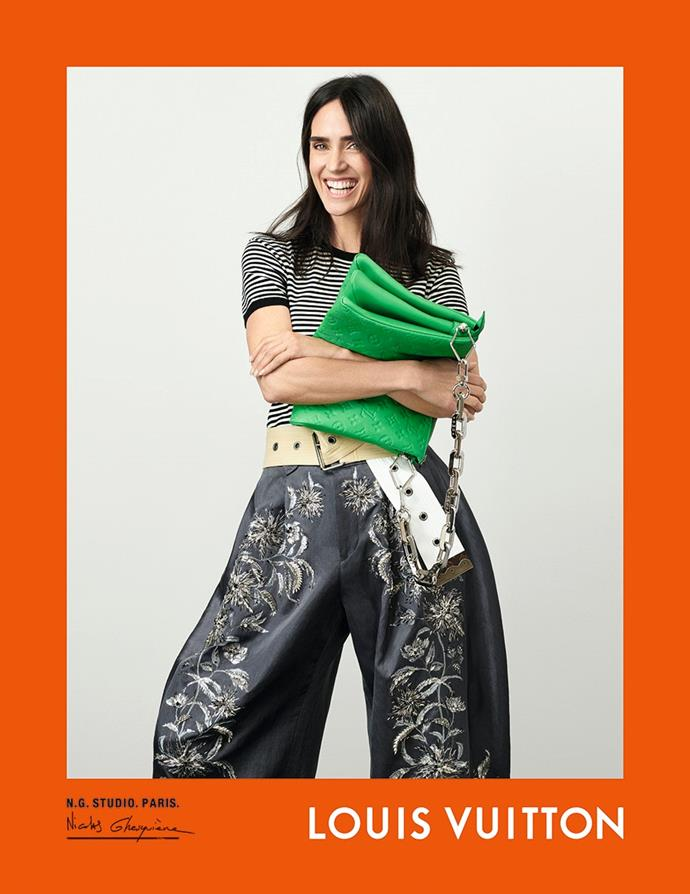 Jennifer Connelly for Louis Vuitton spring/summer 2021.