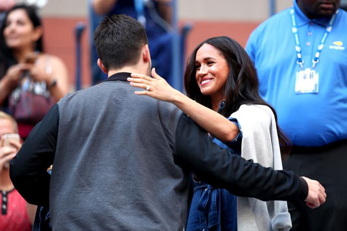 """**When he supported her friendship with Meghan Markle**<br><br>  In the words of five wise women: """"If you wannabe my lover, you gotta get with my friends"""". While [Williams' friendship with Meghan Markle](https://www.elle.com.au/wedding/serena-williams-meghan-markle-wedding-advice-17428 target=""""_blank"""") has existed for years and the tennis star has even [publicly defended Meghan](https://www.elle.com.au/celebrity/serena-williams-meghan-markle-australian-open-22920 target=""""_blank"""") against her detractors, it's a beautiful thing to see her husband be just as warm and openly supportive towards his wife's friend. Naturally, they were both guests at the Sussexes' [star-studded royal wedding](https://www.elle.com.au/celebrity/royal-wedding-celebrity-guests-17621 target=""""_blank"""")."""