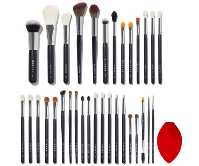 """**Morphe** <br> If you're looking for the full sha-bang, Morphe's matching and extensive sets are for you. Having collaborated with some of Youtube's finest, these brushes are best for full beat makeup looks, as they're densely packed and ideal for layering. Some sets even include duplicates of the most-used so you don't have to wash and wipe when going from purple to orange. Smart. <br><br> **Our top pick**: The James Charles Brush Set, $185 at [Morphe](https://au.morphe.com/products/the-james-charles-brush-set