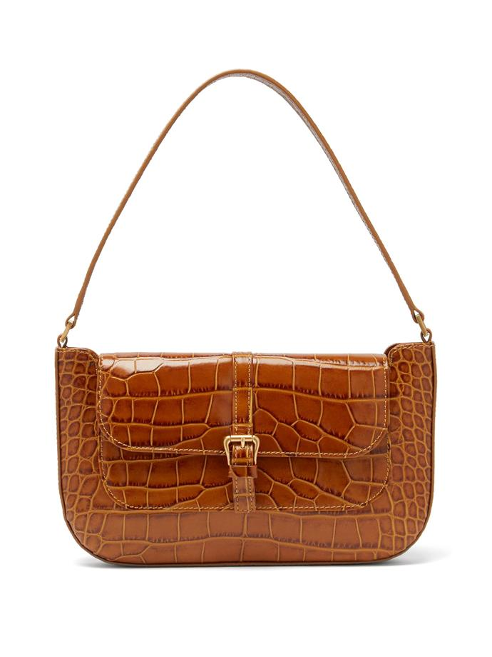 """**'Miranda' Crocodile-Effect Leather Shoulder Bag by By Far, $754 at [MATCHESFASHION.COM](https://www.matchesfashion.com/au/products/By-Far-Miranda-crocodile-effect-leather-shoulder-bag-1387963