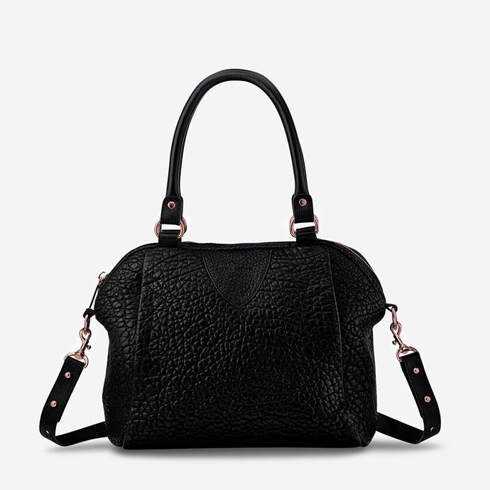 """**'Force Of Being' in Black Bubble, available in various colours, by Status Anxiety, $349 at [Status Anxiety](https://www.statusanxiety.com.au/collections/womens-bags/products/force-of-being-black-bubble