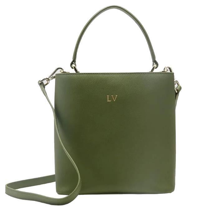 """**Military Green Double Bucket Bag by The Daily Edited, $249.95 at [The Daily Edited](https://www.thedailyedited.com/military-green-double-bucket-bag