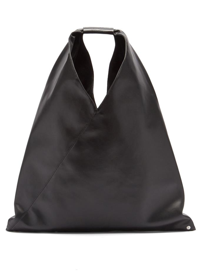 """**Faux-Leather Shoulder Bag by MM6 Maison Margiela, $323 at [MATCHESFASHION.COM](https://www.matchesfashion.com/au/products/MM6-Maison-Margiela-Faux-leather-shoulder-bag-1389857
