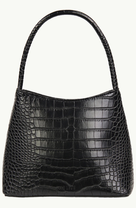 """**The 'Chloe' Bag in Matte Black Croc, various colours available, by Brie Leon, $199 by [Brie Leon](https://brieleon.com/collections/bags/products/the-chloe-bag-black-matte-croc