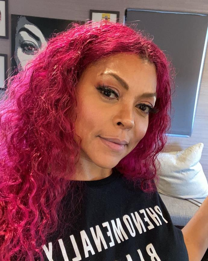 **Taraji P. Henson**<br></br> A long-time member of the pink hair club, Taraji P. Henson's impressive locks have had us itching for the Manic Panic for a while now.