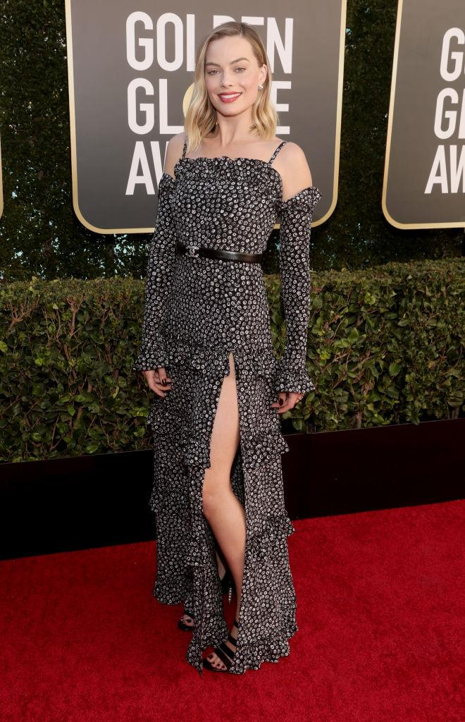 Margot Robbie wearing Chanel.