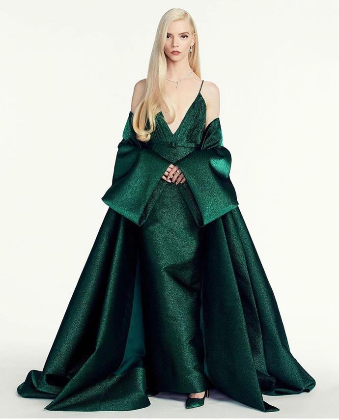 Anya Taylor-Joy in custom Dior Haute Couture.