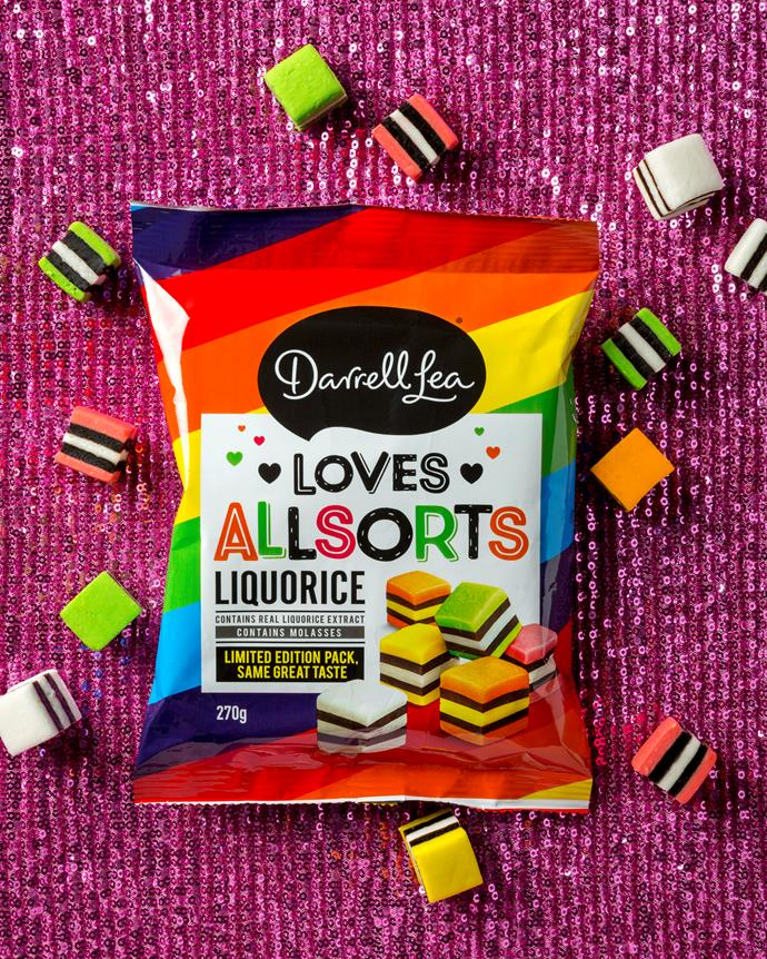"""**Darrell Lea x QLife**<br><br> Darrell Lea has changed the name of their Liquorice Allsorts to DARRELL LEA LOVES ALLSORTS, which the brand calls a """"demonstration of support for inclusivity and diversity in society."""" They have partnered with [QLife](https://qlife.org.au/