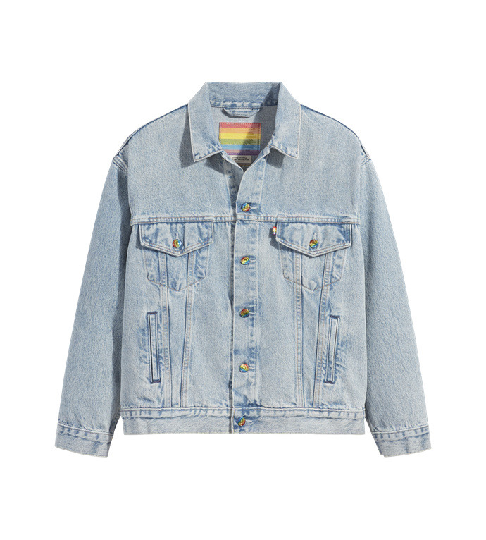 """*Levi's Pride Liberation Trucker Jacket, $199.95 from [Levi's](https://go.skimresources.com?id=105419X1569491&xs=1&url=https%3A%2F%2Fwww.levis.com.au%2Fcollections%2Fpride%2Flevis_pride_liberation_trucker_jacket%2FA00540000.html