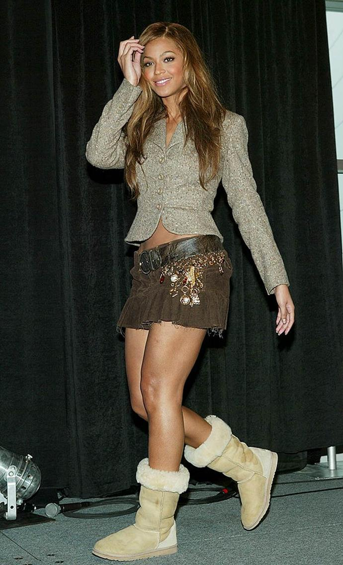 """**Ugg Boots**<br><br>  Look, even Beyoncé fell prey to the [Ugg boot's](https://www.elle.com.au/fashion/are-uggs-back-in-fashion-15605