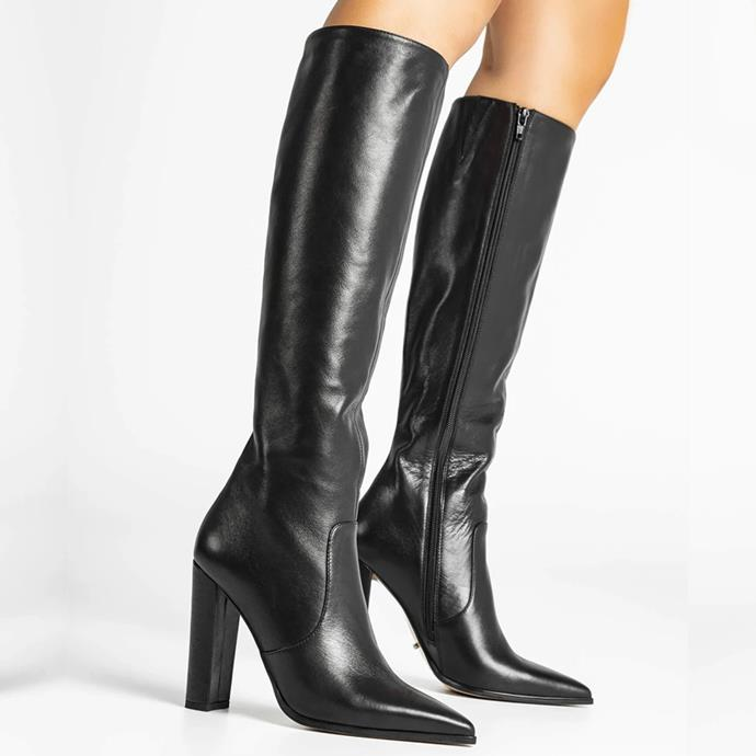 """'Lucille' Black Venice Calf Boots, $389.95 at [Tony Bianco](https://fave.co/2PGmutk