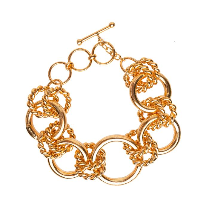"""'Bellina' bracelet in Gold, $359 at [Christie Nicolaides](https://fave.co/38pa0gr
