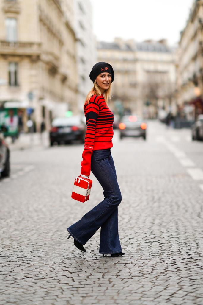 A wool beret! Always chic.