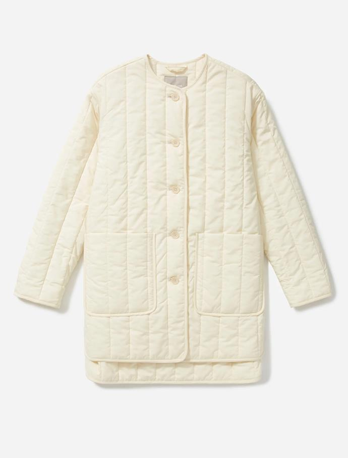 """The Cotton Quilted Jacket, $142 at [Everlane](https://fave.co/3eztcvE