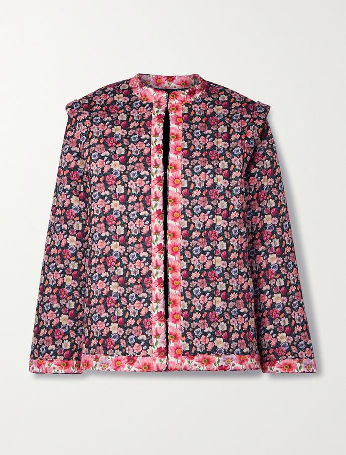 """Floral-print quilted cotton jacket by SEA, $786.12 at [Net-A-Porter](https://fave.co/3vjHmXC