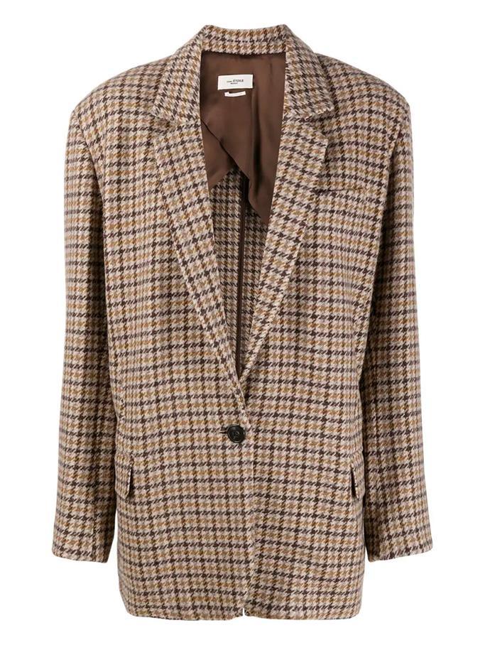 "'Kaito' check-pattern blazer by Isabel Marant Étoile, $815 at [Farfetch](https://fave.co/3eu7b1p|target=""_blank""|rel=""nofollow"")."