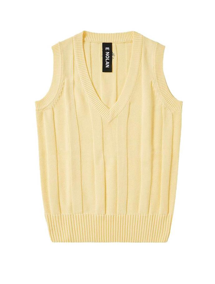 "Cotton Cricket Vest in Yellow Sherbet, $215 at [E Nolan](https://fave.co/3bABdi6|target=""_blank""|rel=""nofollow"")."