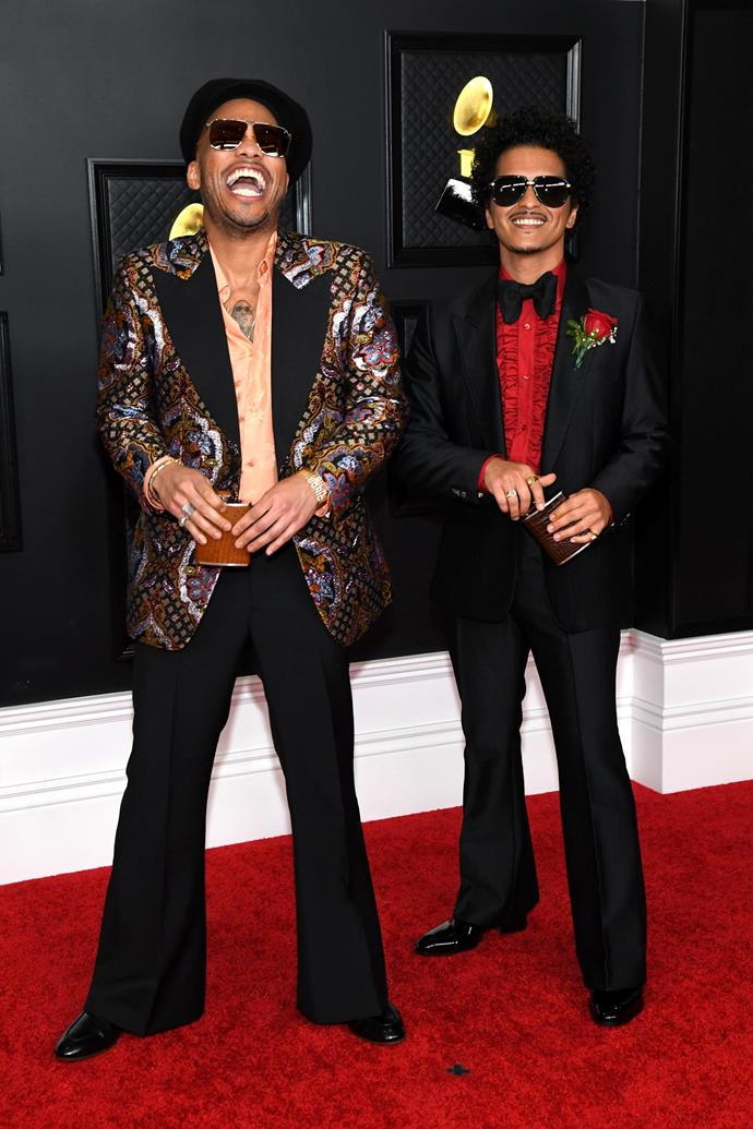Anderson .Paak (left) and Bruno Mars (right).