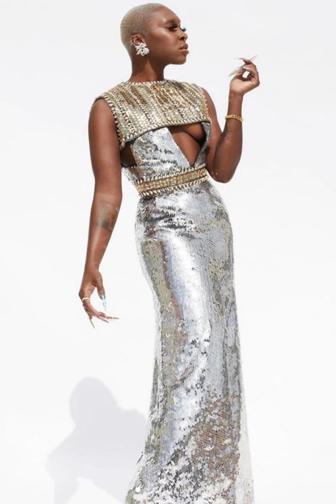 Cynthia Erivo in Louis Vuitton and Tiffany & Co.