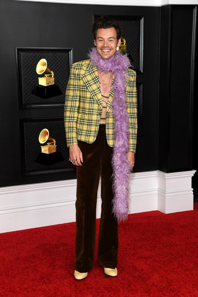 Harry Styles in Gucci.
