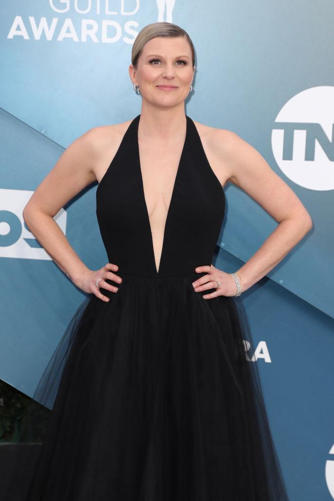 **Jennifer Robertson as Ellen Baker**<br><br>  Outside her role on *Ginny & Georgia* as Ellen Baker, the Miller's neighbour and mother of Marcus and Max, Jennifer Robertson is probably best-known for portraying Jocelyn Schitt on the award-winning *Schitt's creek*.<br><br>  *Image: Getty*