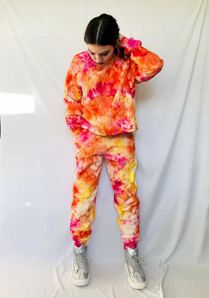 """The tie dye tracksuit (made with eco reactive, low impact dye) for when you want to look hot, like a sunrise.<br><br>   *Organic Cotton Tie Dye Sweatsuit Set, $188.23 from [Etsy](https://go.skimresources.com?id=105419X1569491&xs=1&url=https%3A%2F%2Fwww.etsy.com%2Fau%2Flisting%2F908039784%2Forganic-cotton-tie-dye-sweatsuit-set%3Fref%3Dshop_home_active_1 target=""""_blank"""" rel=""""nofollow"""").*"""