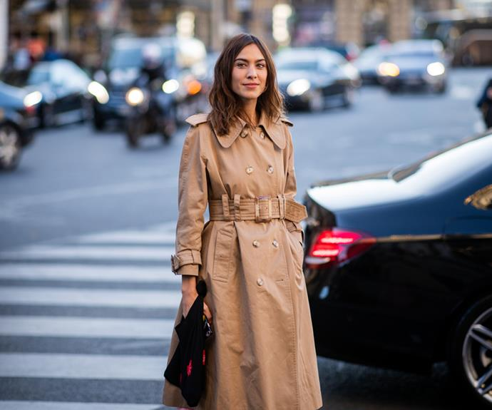 **The Classic Trench** <br><br> One look to Alexa Chung's go-to trans-seaonal rotation, and you'll notice the style star is rarely spotted without some variation of the classic trench. The quintessential staple has long held centre stage on the backs of the world's most fashionable, from Audrey Hepburn in *Breakfast at Tiffany's* to Priyanka Chopra at the Met Gala.