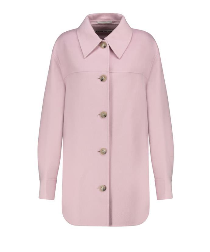 """Acne Studios Wool Shirt Jacket, $1,500; available at [Mytheresa](https://www.mytheresa.com/en-au/acne-studios-wool-shirt-jacket-1756255.html target=""""_blank"""" rel=""""nofollow"""")"""