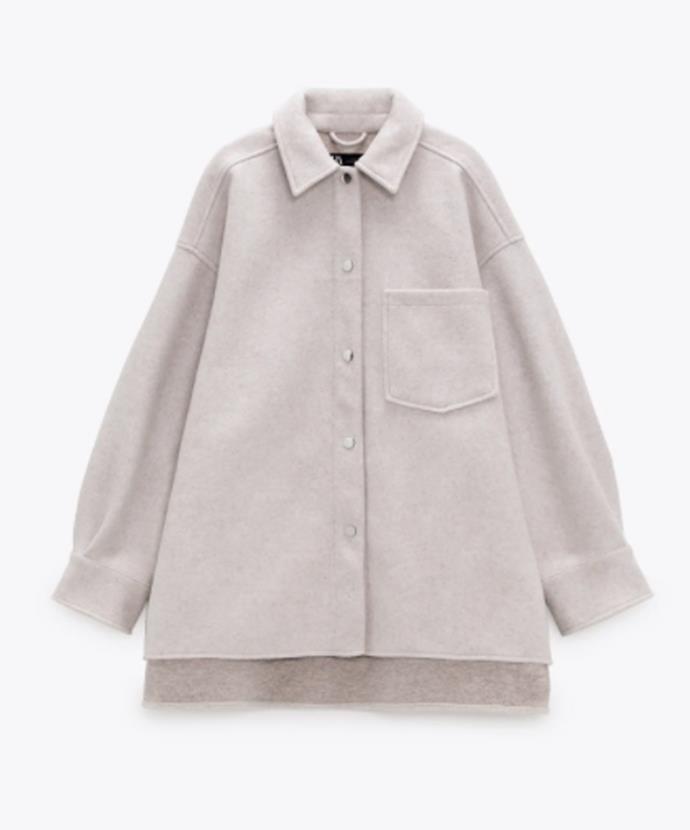 "Zara Overshirt With Pockets, $69.95; available at [Zara](https://www.zara.com/au/en/overshirt-with-pockets-p03046044.html?v1=82300873a target=""_blank"" rel=""nofollow"")"