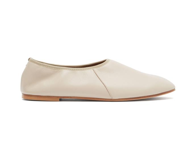 """Emme Parsons High Throat Ballet Flats, $591; available at [Matches Fashion](https://www.matchesfashion.com/au/products/Emme-Parsons-High-Throat-leather-ballet-flats-1368599