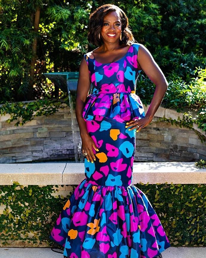Viola Davis in  Duro Olowu. Image via Shamar Benoit.