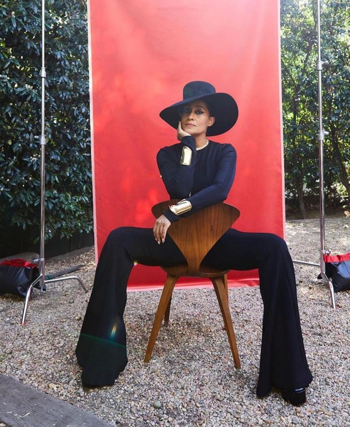 Tracee Ellis Ross in Alberta Ferretti. Image via Karla Welch.