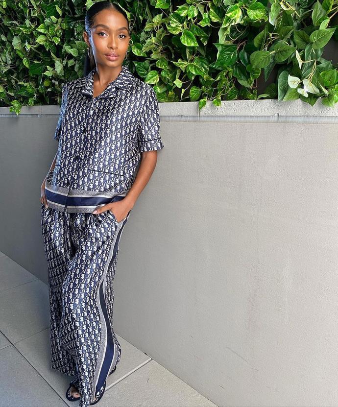 Yara Shahidi in Dior. Image via Jason Bolden.