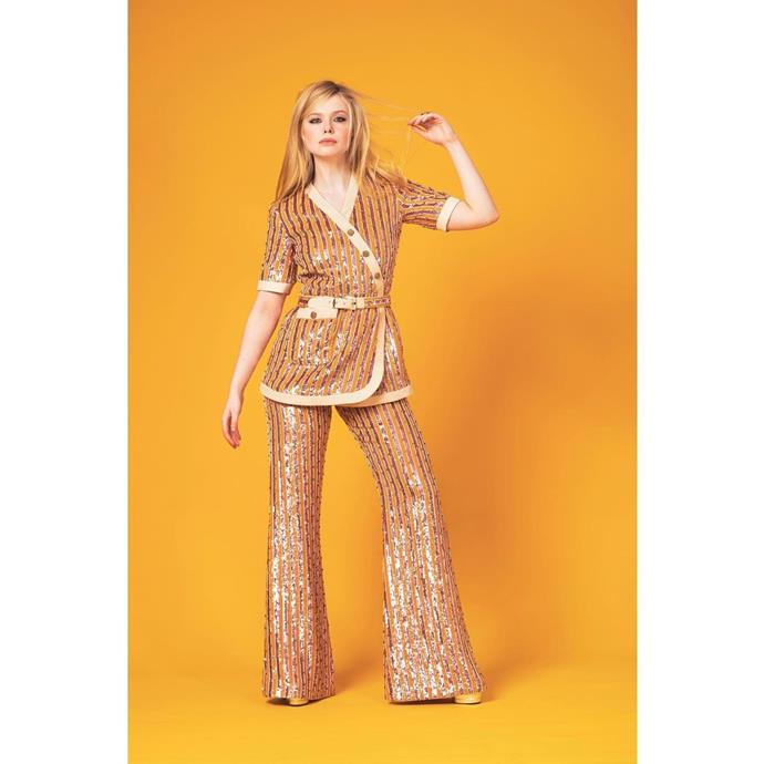 "Elle Fanning in Gucci. <br><br>Image via Instagram [@ellefanning](https://www.instagram.com/p/CNQ19fClUC1/ target=""_blank"" rel=""nofollow"")."