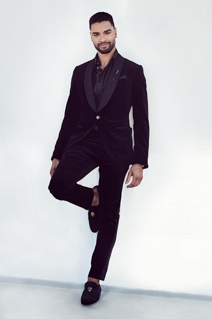 Regé-Jean Page in Louis Vuitton. <br><br>Image via Matthew Brookes.