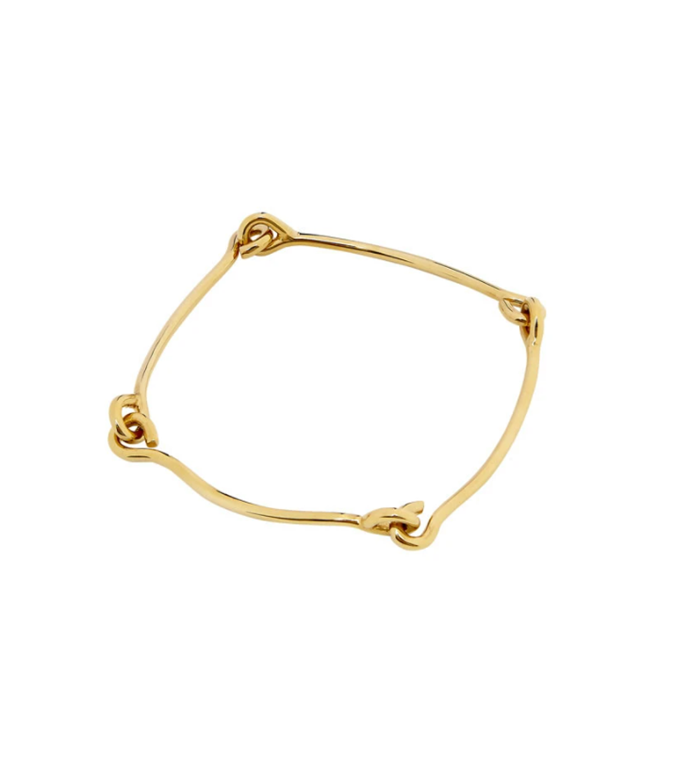 """Gold Link Bangle, $360 at Holly [Ryan](https://hollyryan.com.au/collections/bracelets/products/gold-link-bangle