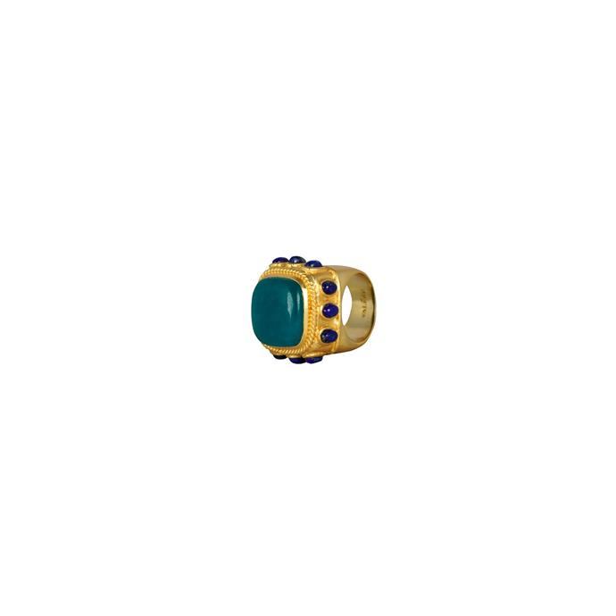 """'Cordelia' Ring, $190 at [Valére](https://valere.com.au/collections/rings-1/products/cordelia-ring-aqua-jade-lapis