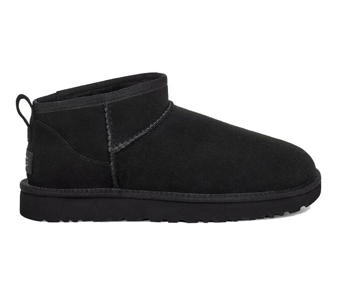 """Ugg Classic Ultra Mini Boot in Black, $190; available at [THE ICONIC](https://fave.co/3dAPFGK