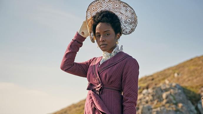 """**Crystal Clarke as Georgiana Lambe** <br><br> Crystal Clarke plays Georgiana Lambe, the only Black character ever written by Austen. A wealthy friend of Sidney Parker's, she arrives in the seaside resort of *Sanditon* under the protection of Mrs Griffiths, a middle-aged white woman whose other """"charges"""" include the English Miss Beauforts. However, her reputed £100,000 fortune makes her an immediate subject of interest to the rest of the town. <br><br> The American actress has already tackled an iconic author's work on-screen, having previously played Tina Argyll in an adaptation of Agatha Christie's *Ordeal by Innocence*."""