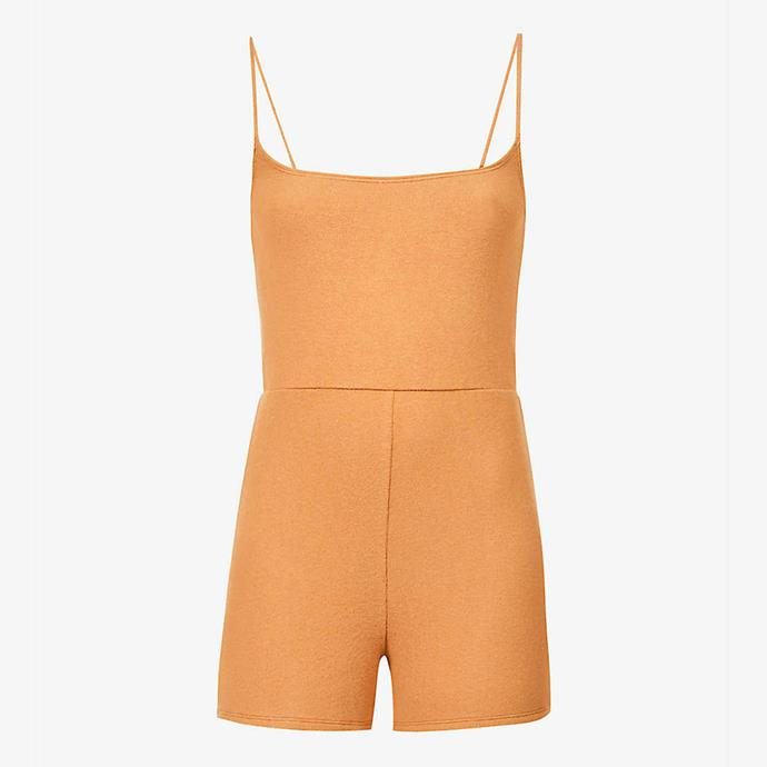 """Venus stretch-knit playsuit by Reformation, $163 at [Selfridges](https://fave.co/2Qa3TWM target=""""_blank"""" rel=""""nofollow"""")."""