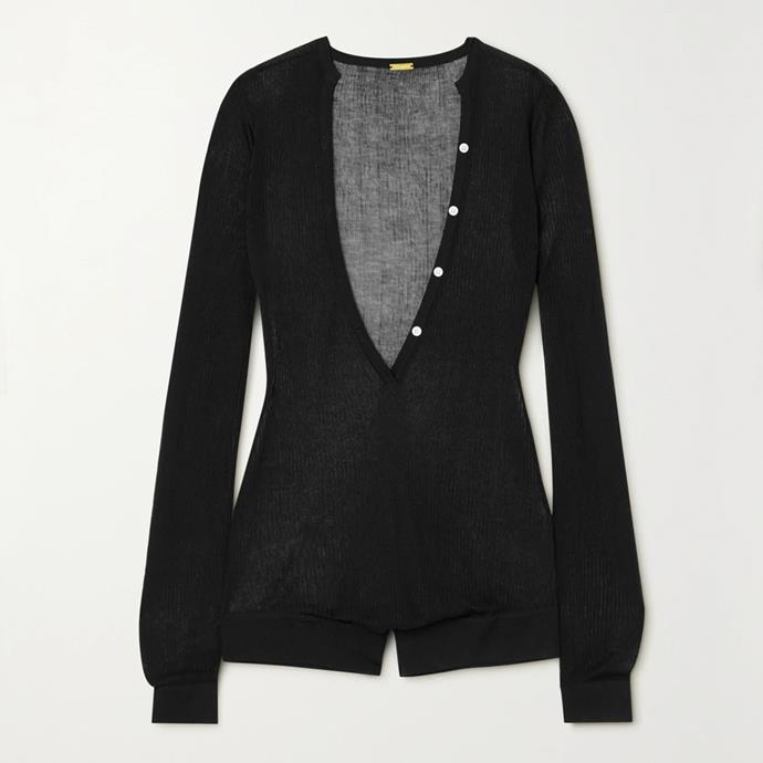 """Sibel ribbed-knit bodysuit by Dodo Bar Or, $393.16 at [Net-A-Porter](https://fave.co/2PErsaB target=""""_blank"""" rel=""""nofollow"""")."""
