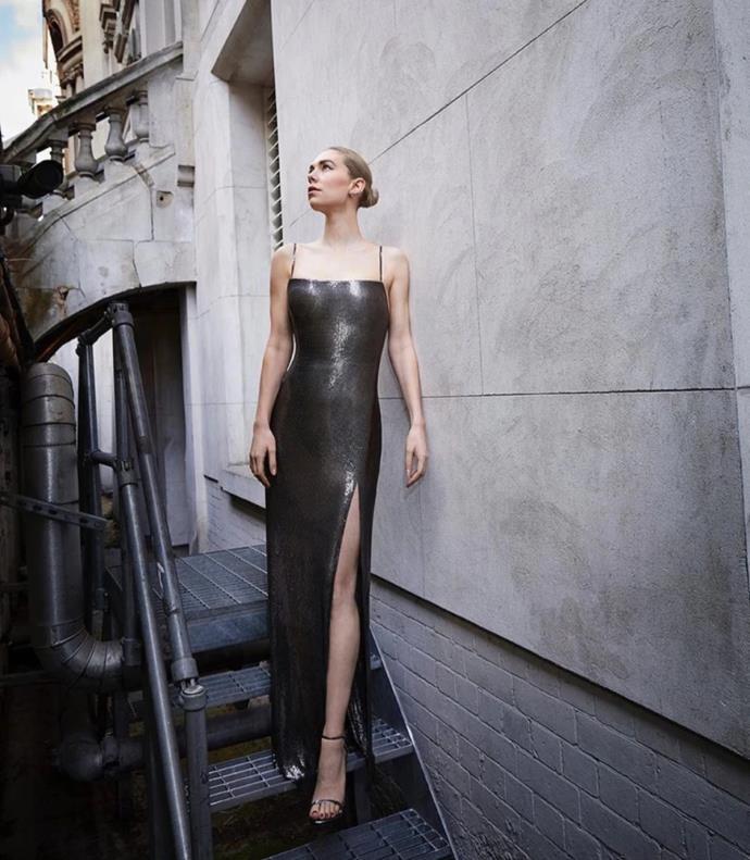 Vanessa Kirby in Versace.