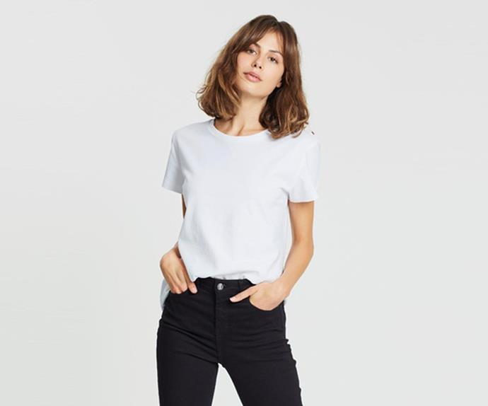 "Atmos&Here Organic Cotton Crew Neck Tee, $24.99; at [THE ICONIC](https://www.theiconic.com.au/organic-cotton-crew-neck-tee-1114268.html?utm_source=google&utm_medium=au_sem_nonbrand&utm_content=T-Shirts%20%26%20Singlets&utm_campaign=AU_NC_Women_PG_Generic&utm_term=PRODUCT_GROUP&gclsrc=aw.ds&gclid=Cj0KCQjwgtWDBhDZARIsADEKwgMQGiMjANkVmjxogCB20Xs_74OLXg5JdaJnAa6mgDtXniedf6kelXIaAr7cEALw_wcB|target=""_blank""