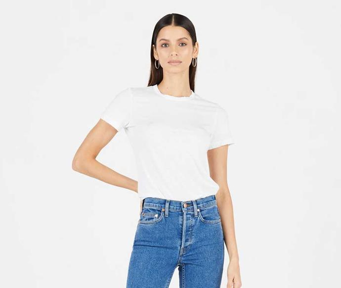 "Cotton Citizen The Standard Tee, $65; at [Cotton Citizen](https://cottoncitizen.com/collections/women-tees/products/standard-tee-1|target=""_blank""