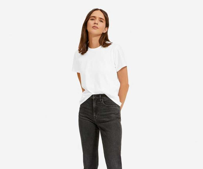 "Everlane The Organic Cotton Box-Cut Tee, $26; at [Everlane](https://www.everlane.com/products/womens-organic-cotton-box-cut-tee-white|target=""_blank""
