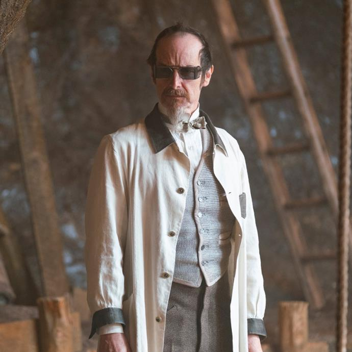 **Denis O'Hare as Dr. Edmund Hague** <br><br> Played by Denis O'Hare, Hague has a penchant for experimenting on the supernaturally gifted, rather than help them. Filling the mad scientist trope, it's safe to say that he's one of the show's many villains. <br><br> The American actor has previously starred as Russell Edgington in *True Blood*, as well as *American Horror Story*, *This Is Us*, *Big Little Lies* and *Dallas Buyer's Club*.