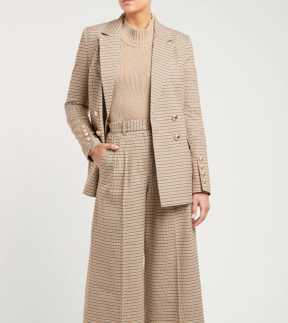 """**The checked blazer**  <br><br> Having been a style favourite of everyone's from Diana, Princess of Wales, to Kaia Gerber, the checked blazer is one of the smartest style investements you'll ever make. Modern takes on the piece are flattering, versatile and look good with everything, just take Cocoa blazer from Rebecca Vallance.  <br><br> Cocoa blazer from Rebecca Vallance, $749 at [Rebecca Vallance](https://www.rebeccavallance.com/cocoa-blazer/