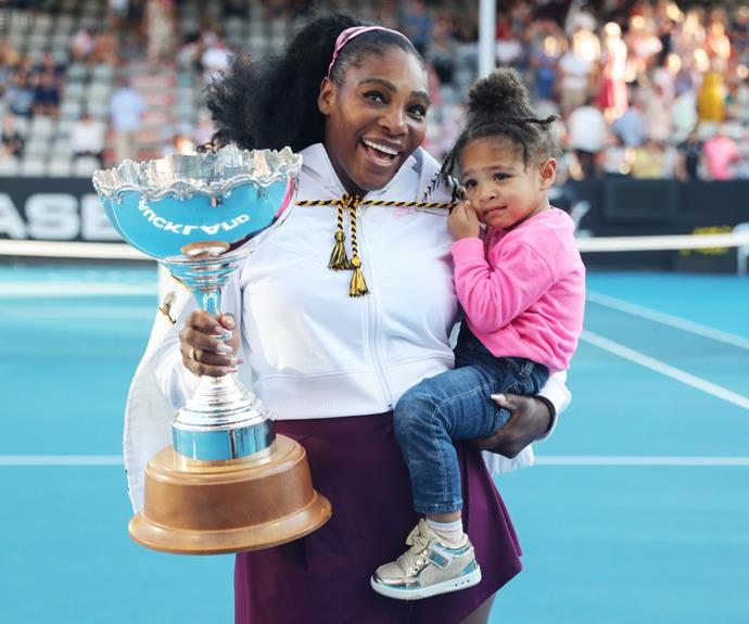 Serena Williams with her daughter, Alexis Olympia Ohanian Jr.