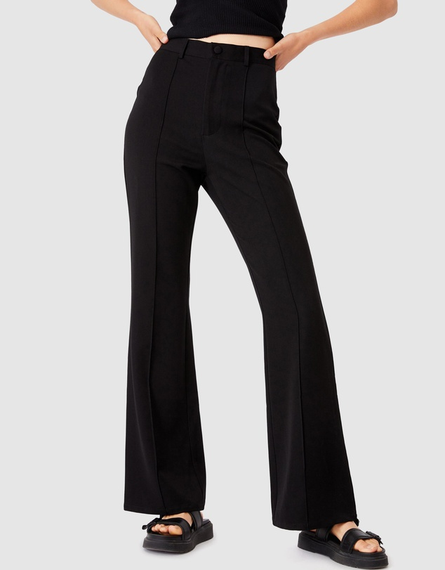 "An option for a more tailored look.<br><br>   *Cotton On Bowie Flare Pants, $39.99 from [The Iconic](https://go.skimresources.com?id=105419X1569491&xs=1&url=https%3A%2F%2Fwww.theiconic.com.au%2Fbowie-flare-pants-1222881.html|target=""_blank""