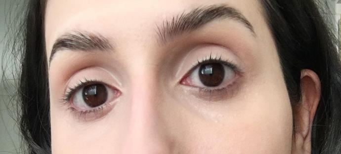 BEFORE using Benefit 'They're Real!' Magnet Mascara